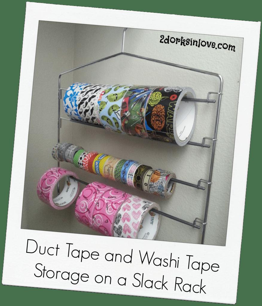 Duct Tape Storage Idea