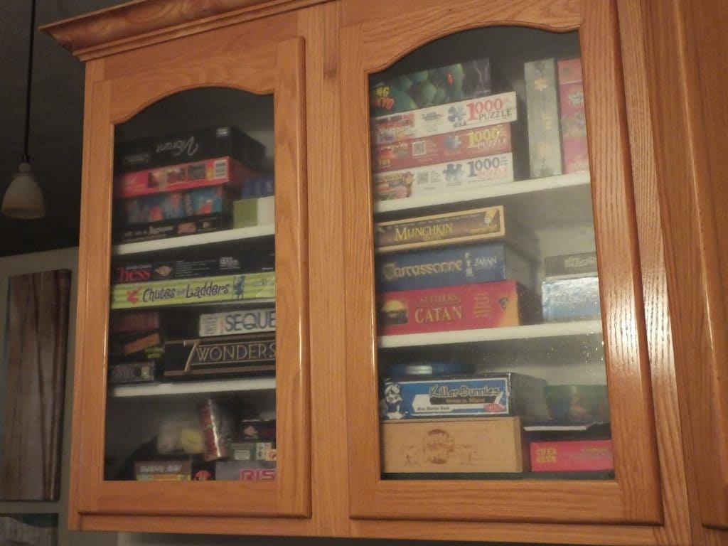 Our games cabinet is full of joy.