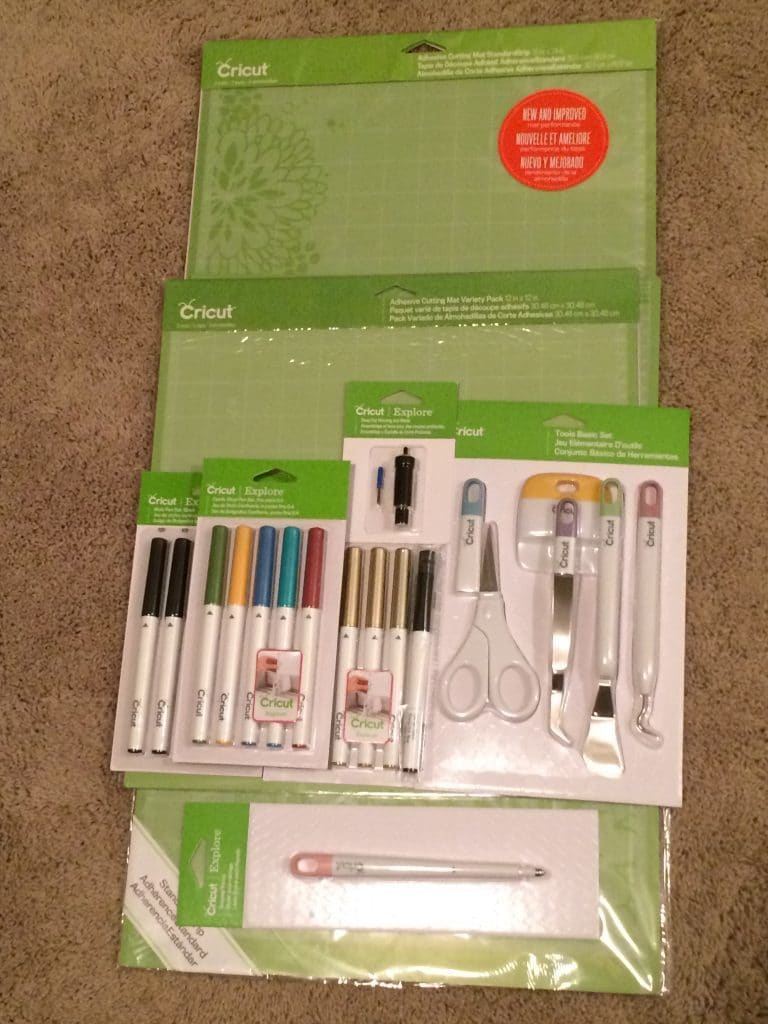 Some of the tools available for the Cricut Explore Air 2