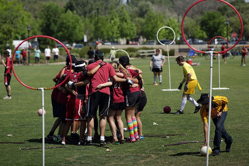 Quidditch is one way to get some geeky exercise in