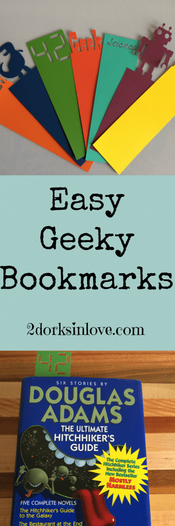 These geeky bookmarks are SO easy to make when you use a Cricut machine!